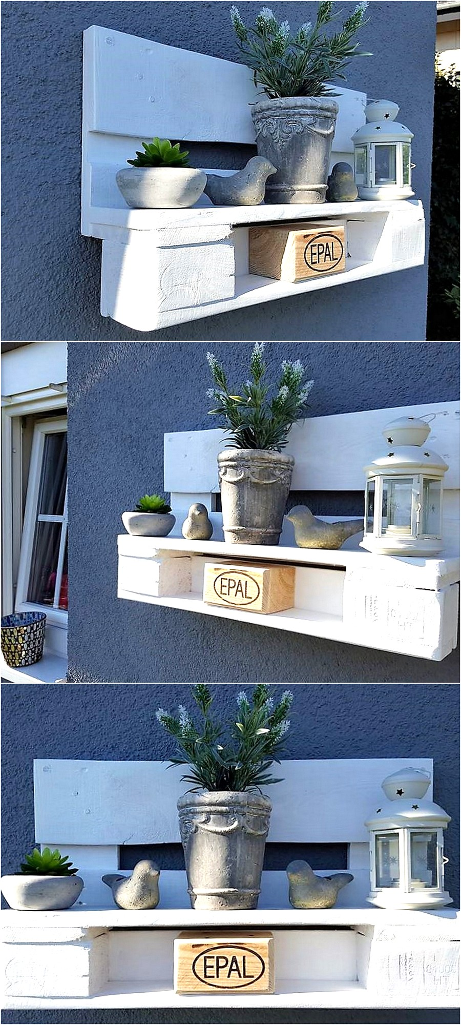 Pallet Garden Wall Decor Shelf | Wood Pallet Furniture