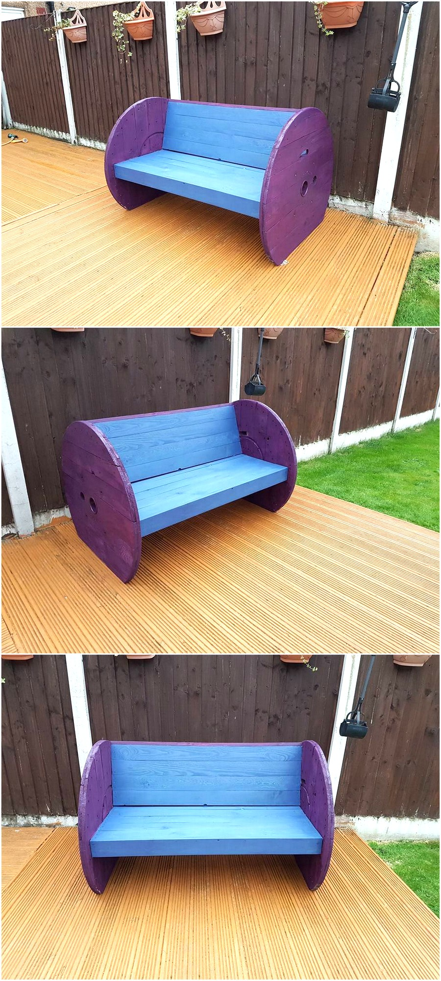 pallet-plus-cable-reel-garden-bench
