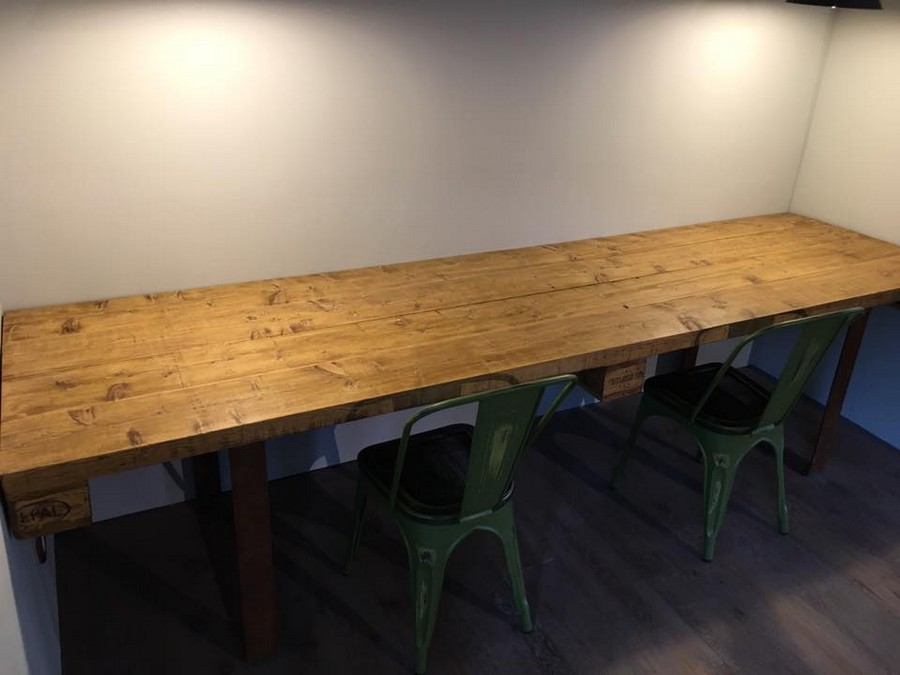Reclaimed Wooden Pallet Huge Table