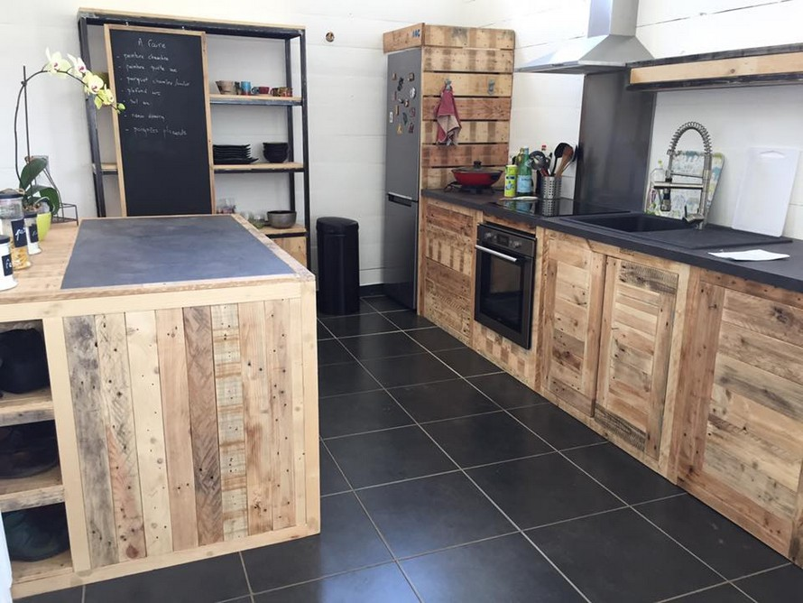 Pallet furniture ideas wood pallet projects and diy for Pallet kitchen ideas