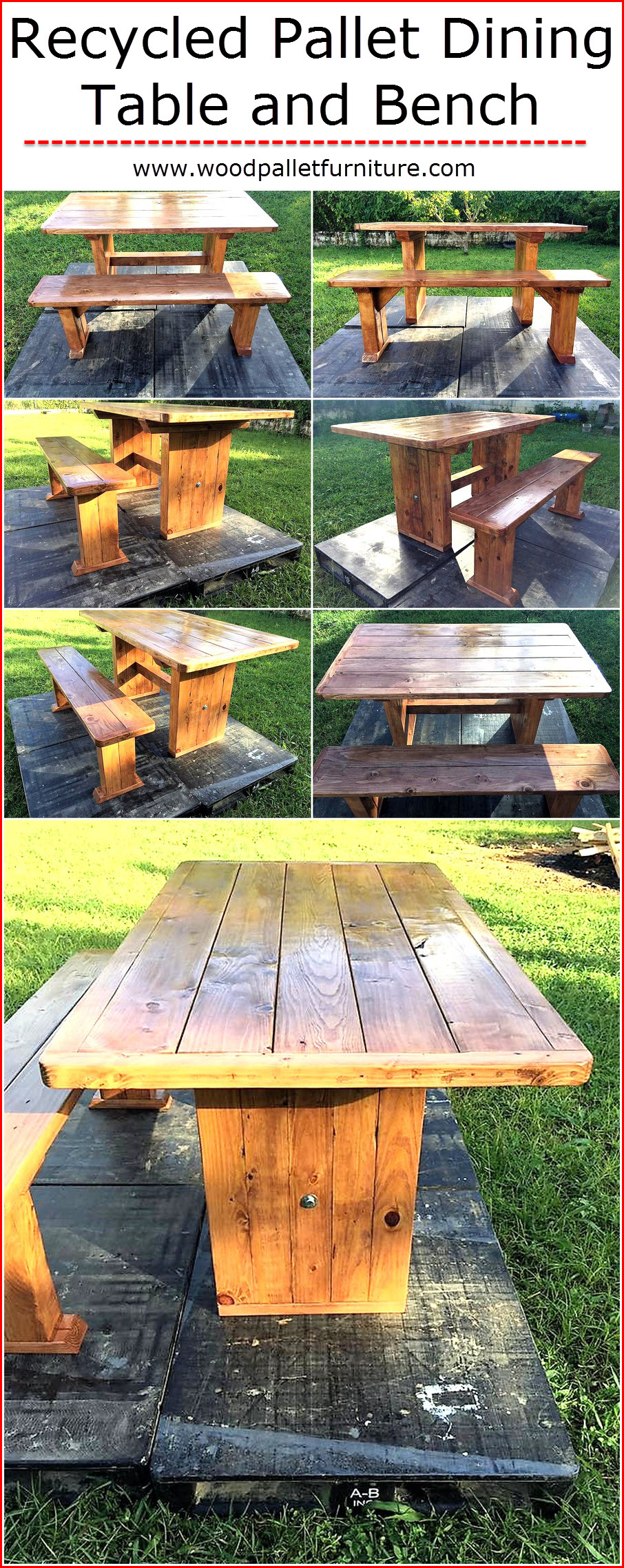 recycled-pallet-dining-table-and-bench