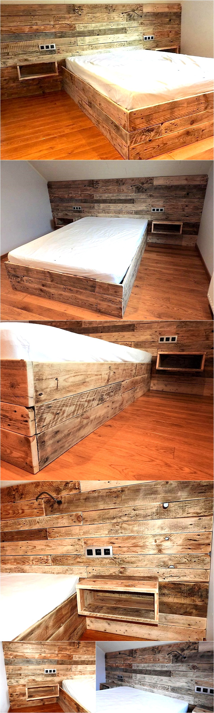 repurposed-pallet-bed-with-wall-headboard