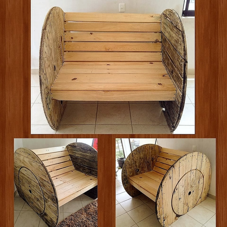 pallet-cable-reel-bench