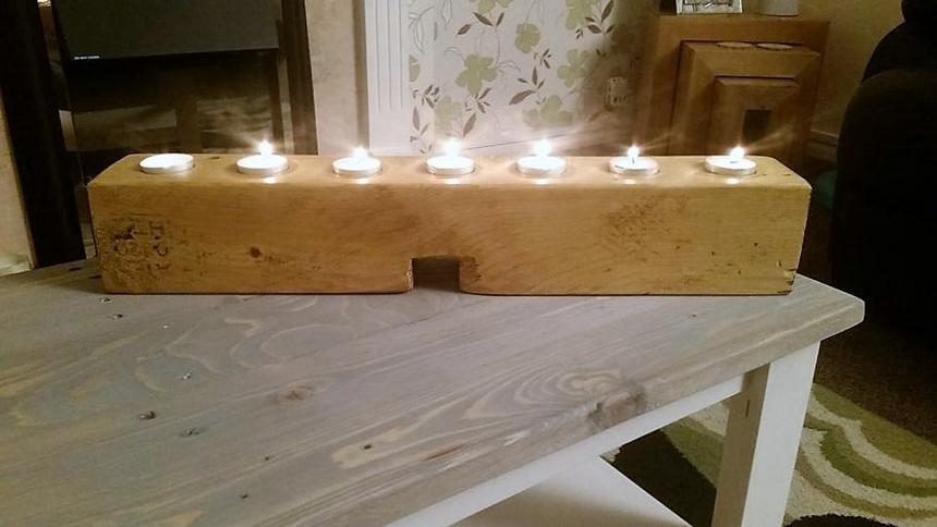 pallet-candle-holder