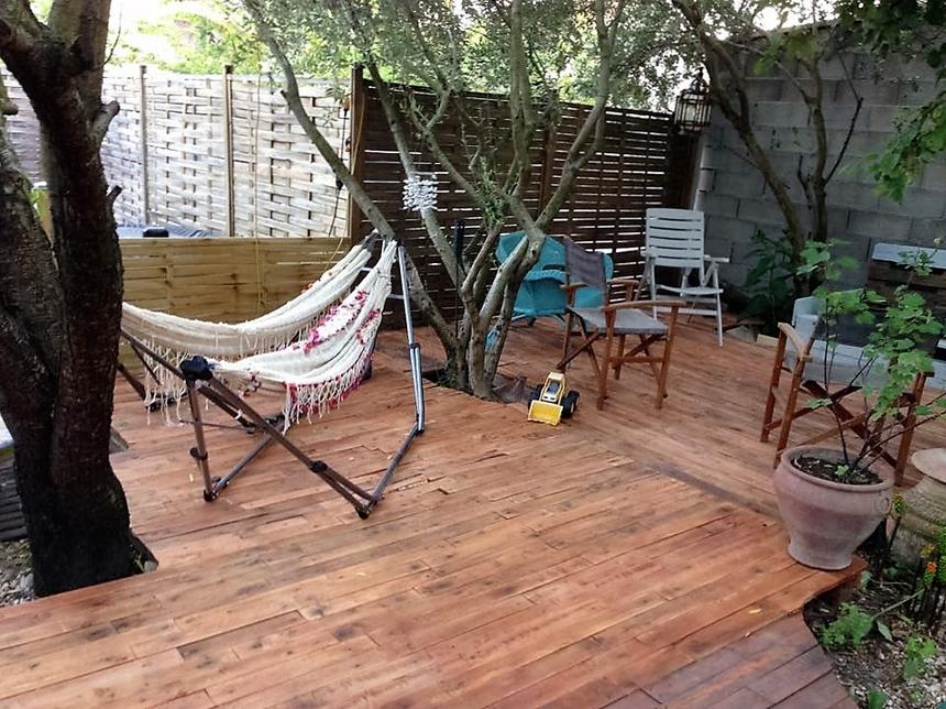 Pallet Made Garden Terrace