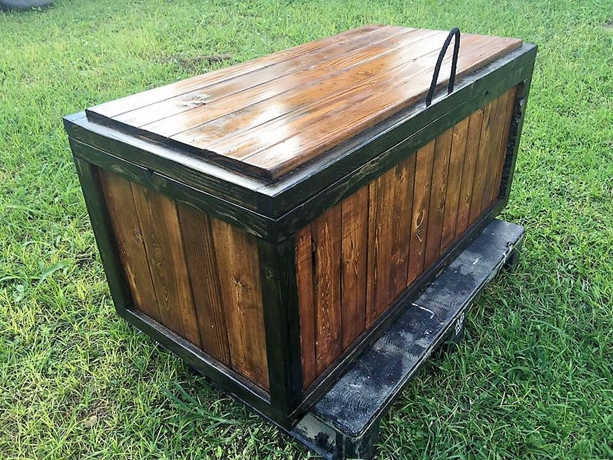 Wood Pallet Storage Chest