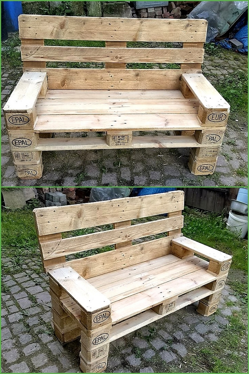 Ideas to give wood pallets second life wood pallet furniture for Pallet ideas