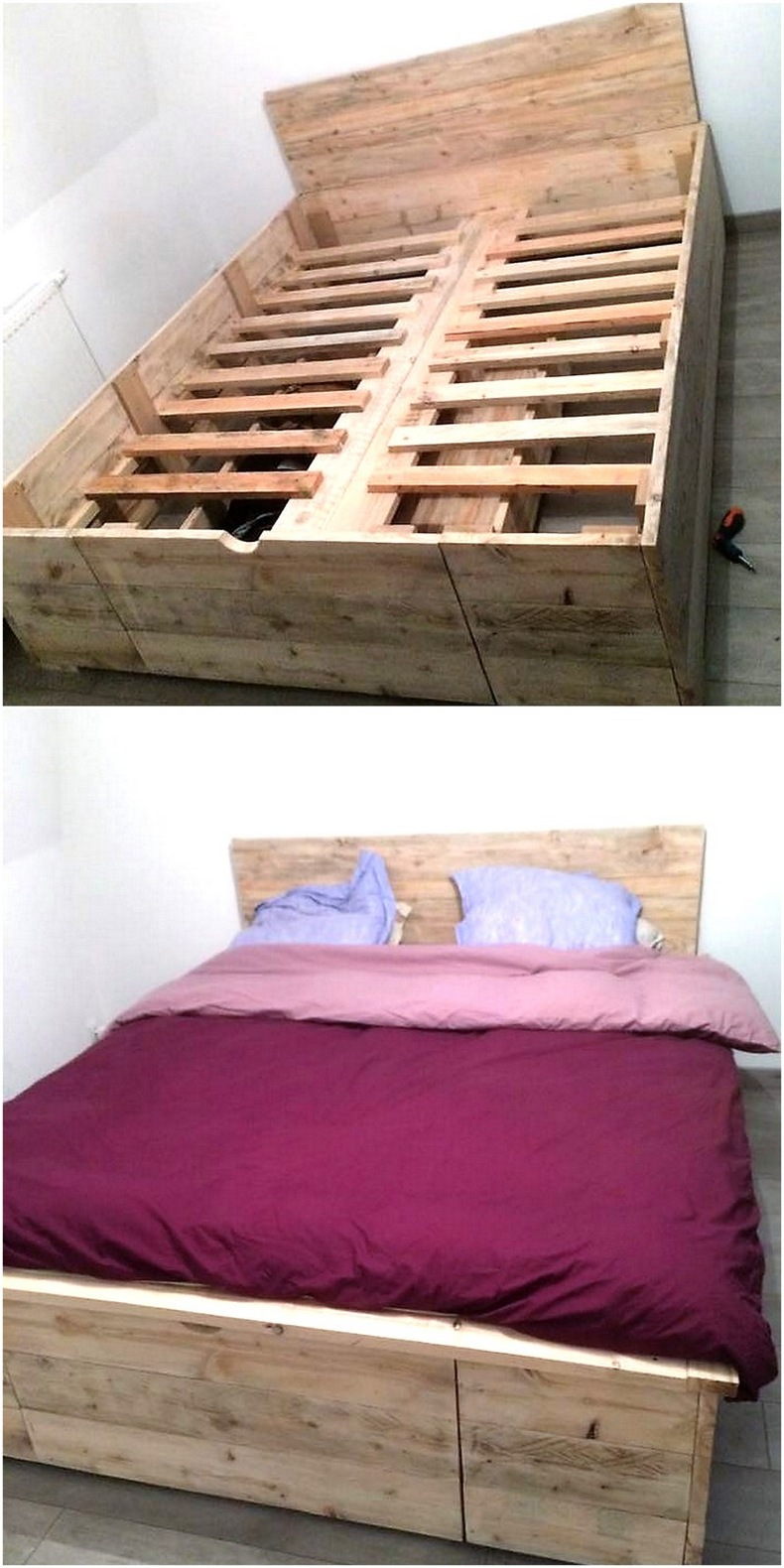 recycled-wood-pallet-bed