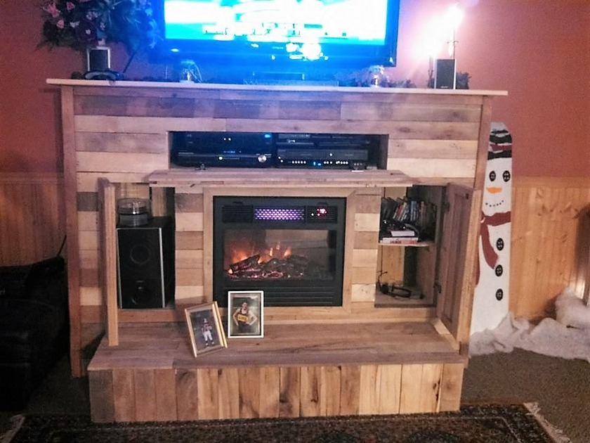 repurposed-fireplace-mantel-and-tv-stand