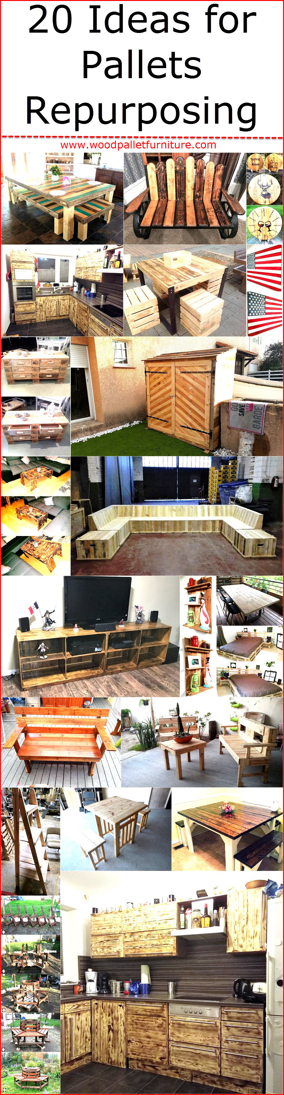 20 Ideas For Pallets Repurposing Wood Pallet Furniture