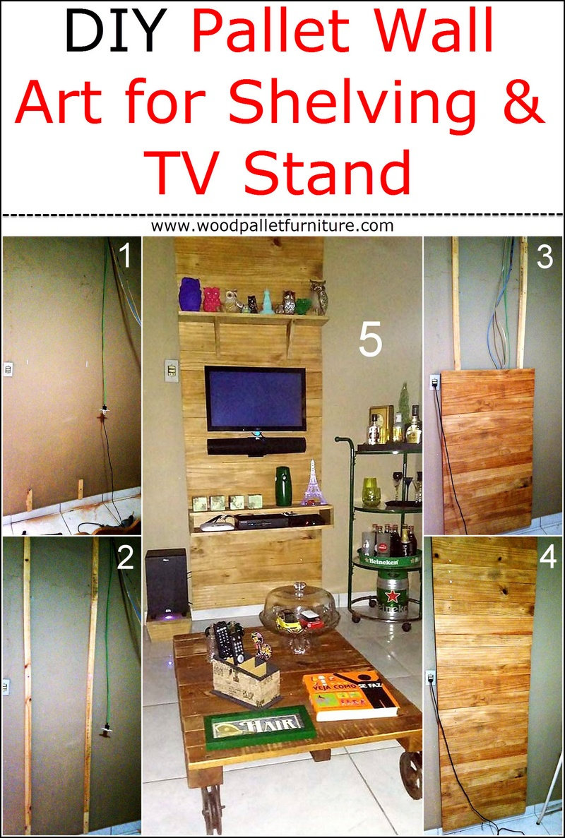 diy-pallets-wall-art-for-shelving-with-tv-stand