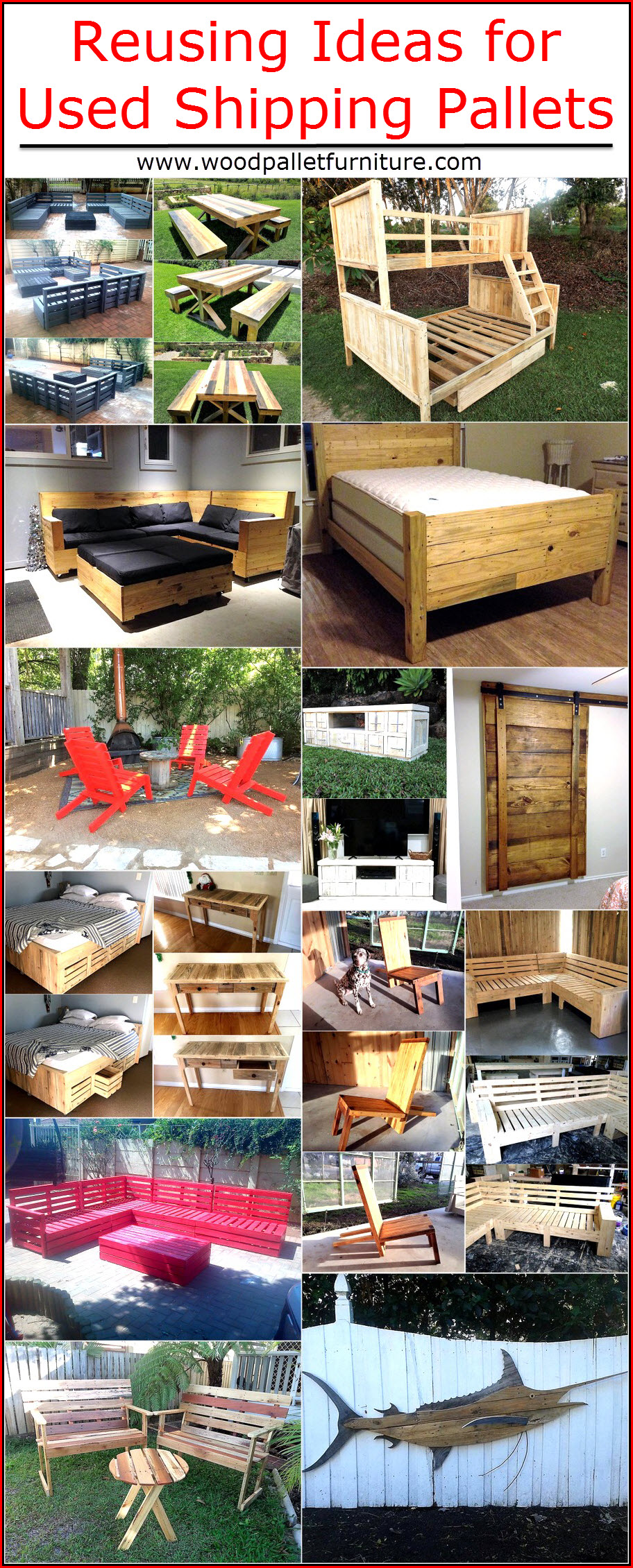 shipping pallet furniture ideas. Reusing-ideas-for-used-shipping-pallets Shipping Pallet Furniture Ideas A