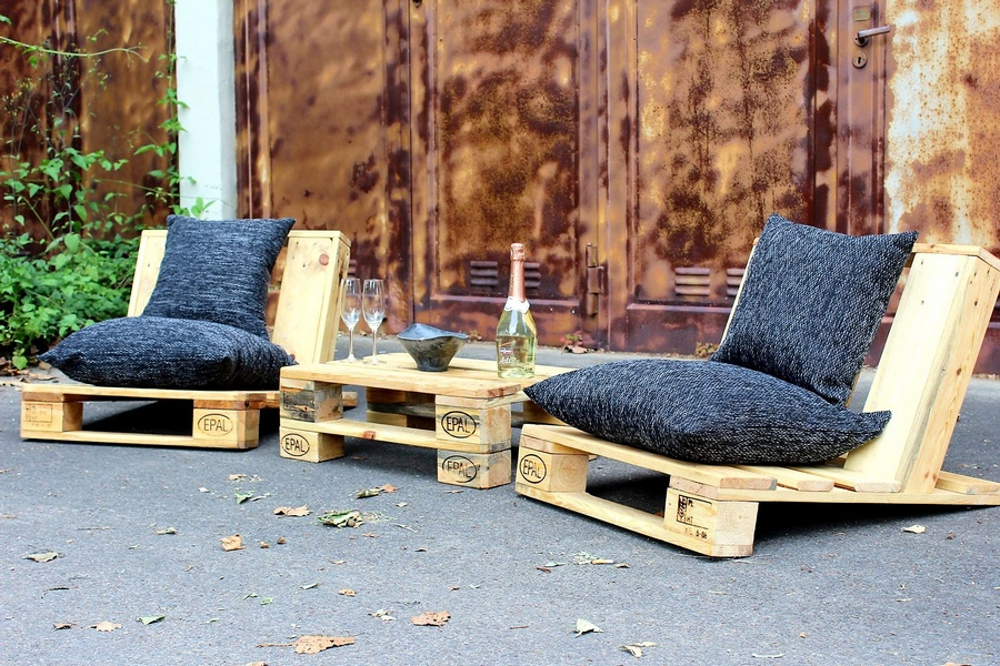 Pallet Patio Couch urban style pallet patio furniture | wood pallet furniture
