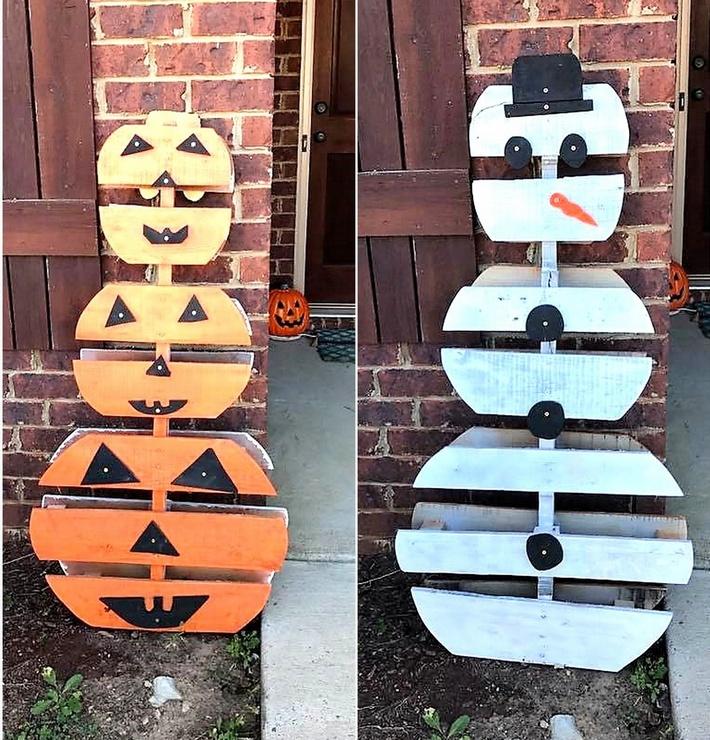 pallet-wood-snowmans