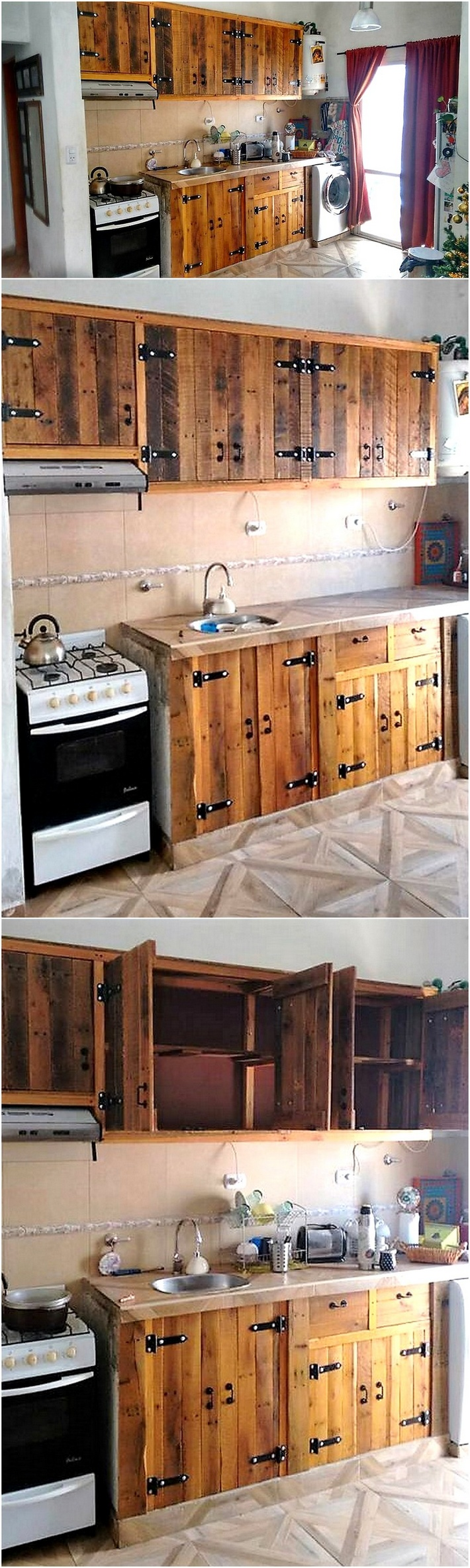 Choose one idea for your next diy pallet projects wood for Kitchen units made from pallets