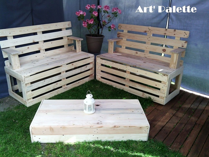 Outdoor Patio Furniture Made From Pallets wood pallet furniture ideas, plans and diy projects.