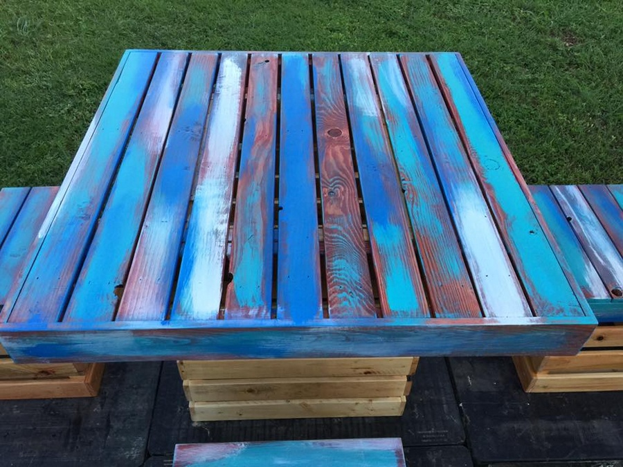 wooden-pallet-dinning-set-table