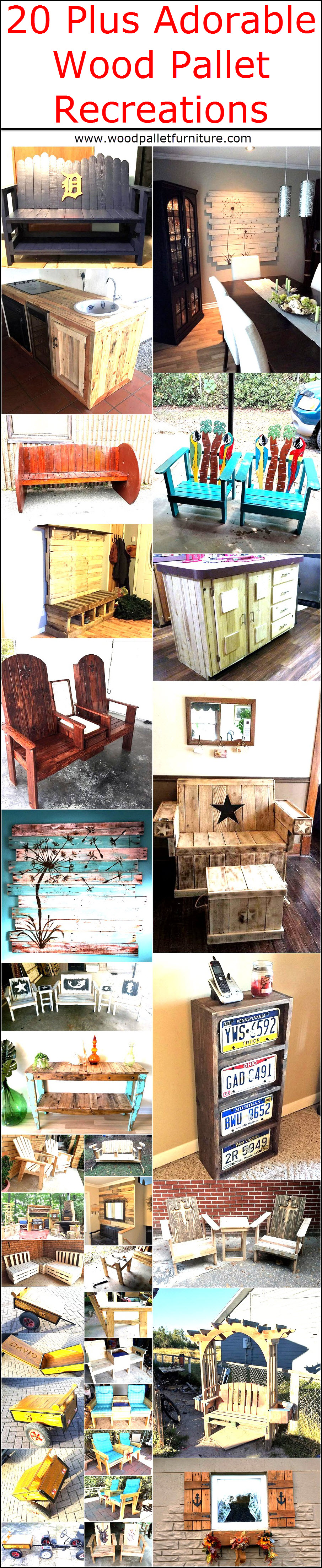 20 Plus Adorable Wood Pallet Recreations
