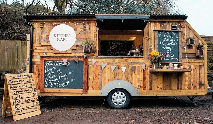 Pallets Mobile Kitchen Kart
