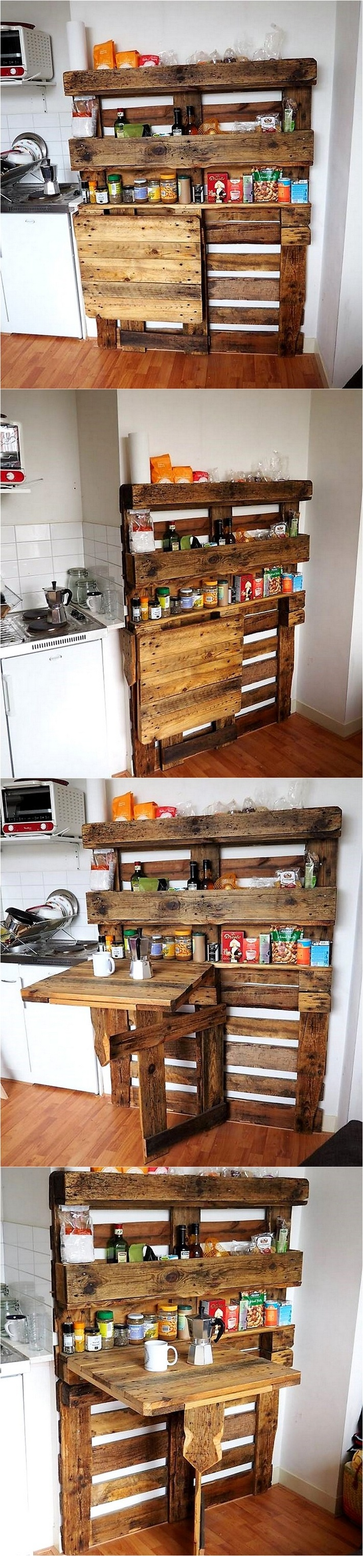 pallet kitchen spice shelving