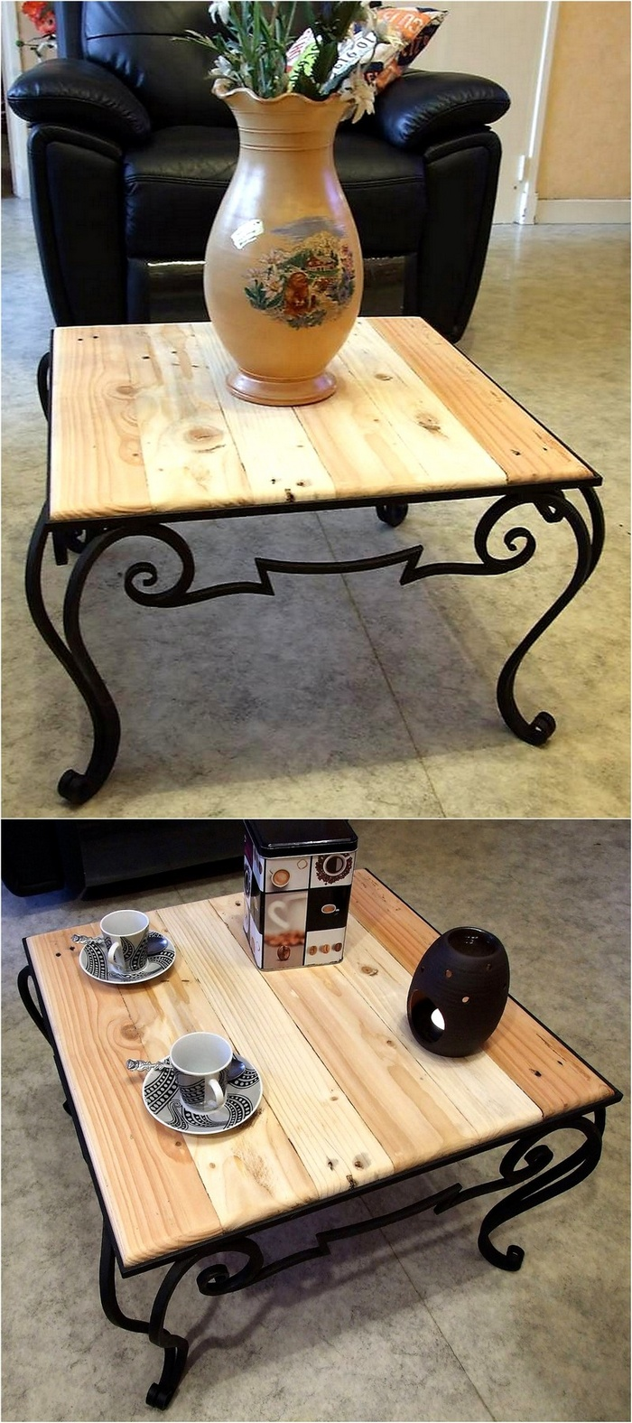 reclaimed pallet top table