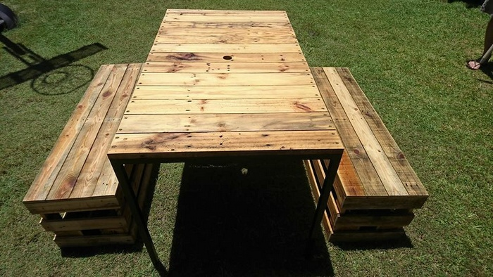recycled pallet furniture plan