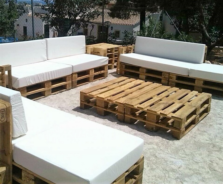 Stunning Pallet Patio Furniture Sets Wood Pallet Furniture