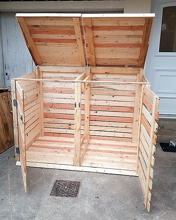 recycled pallet trash can cover
