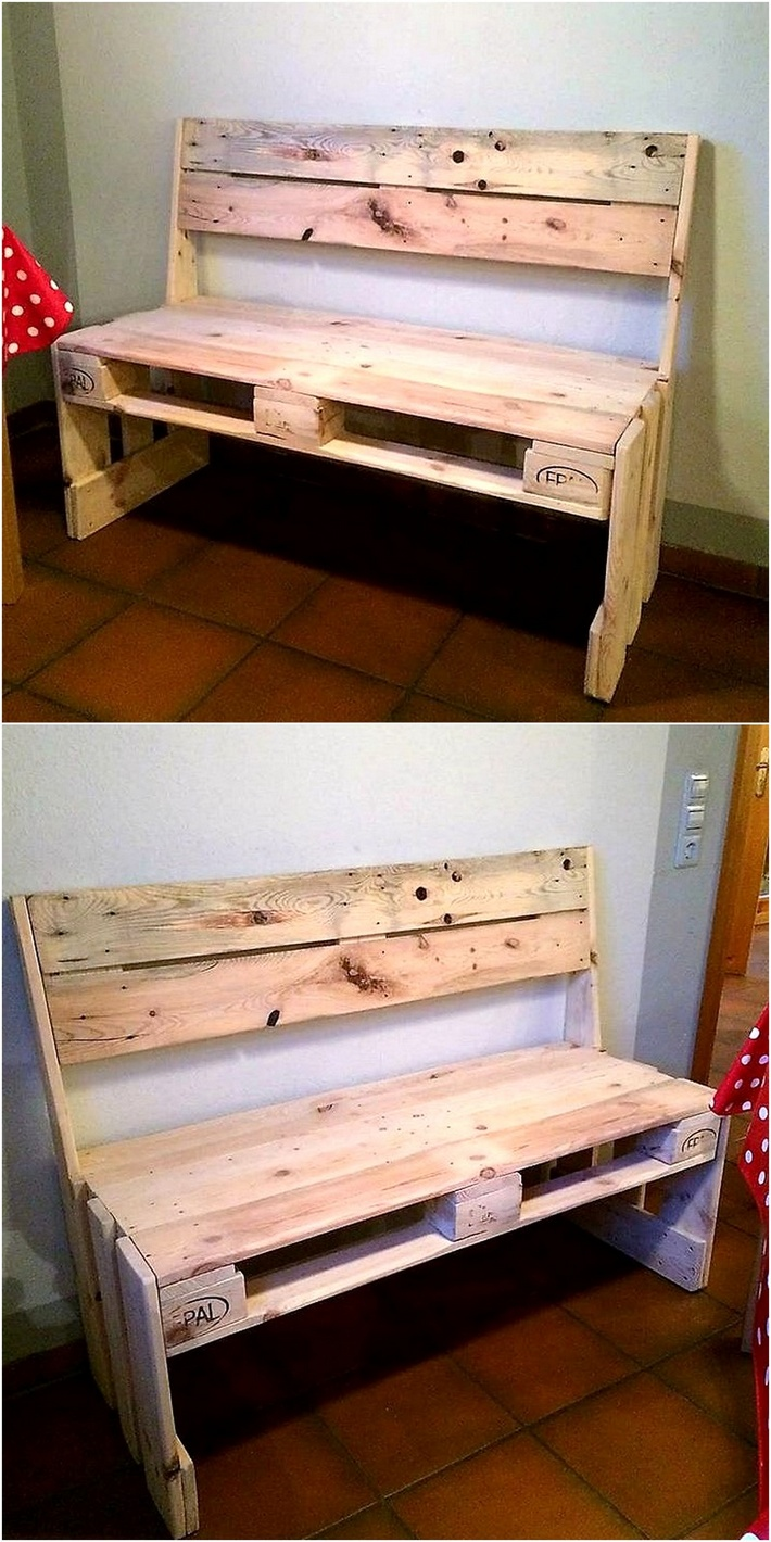 repurposed pallet bench