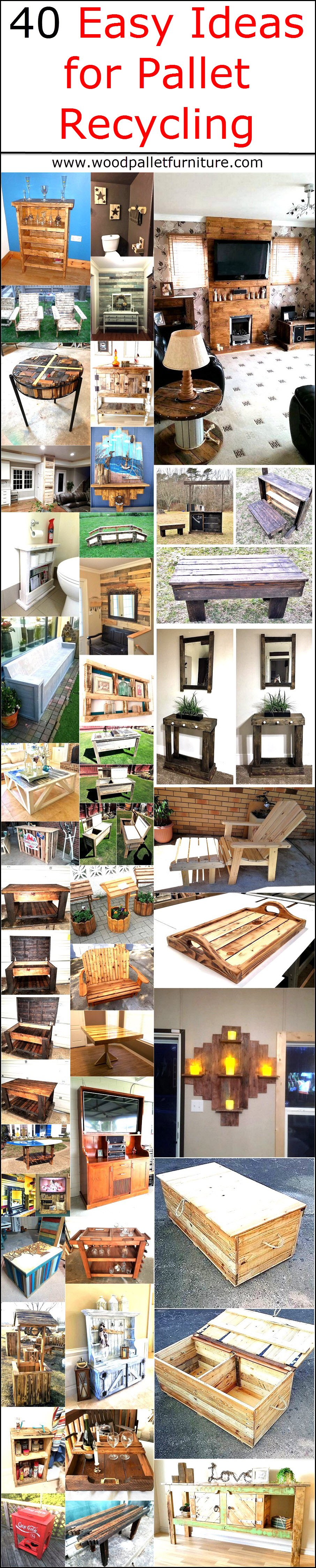 40 Easy Ideas for Pallet Recycling