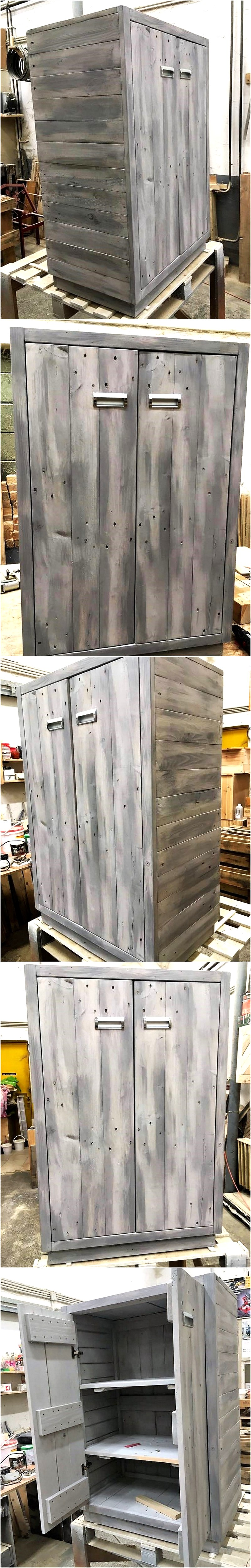 Recycled Wood Pallet Closet Project