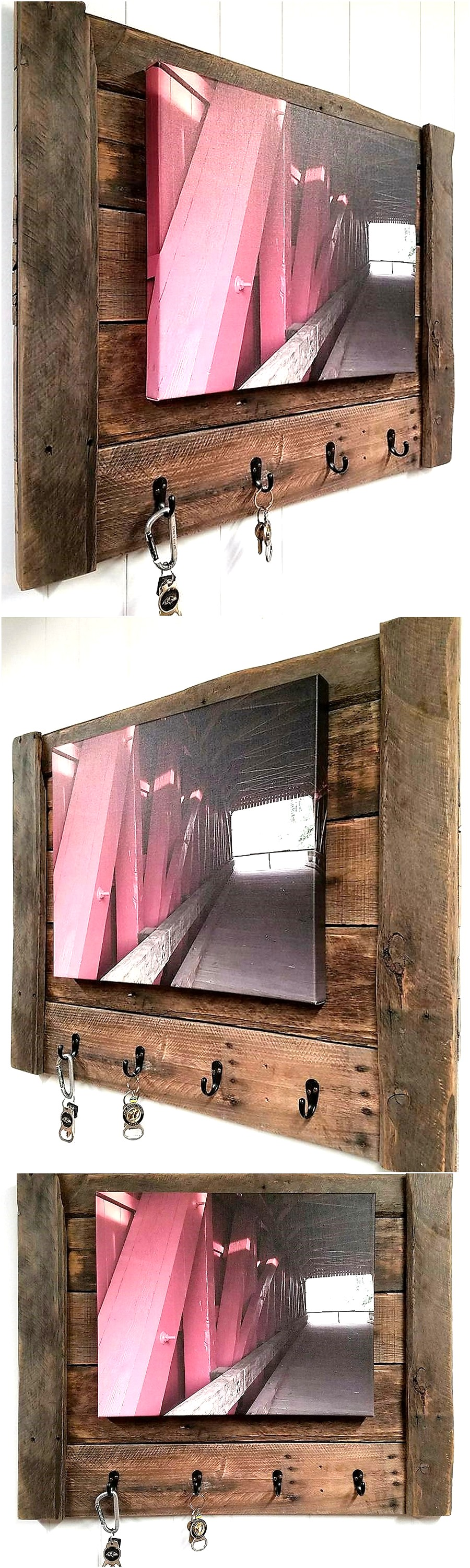 Rustic Pallets Key Coat Rack