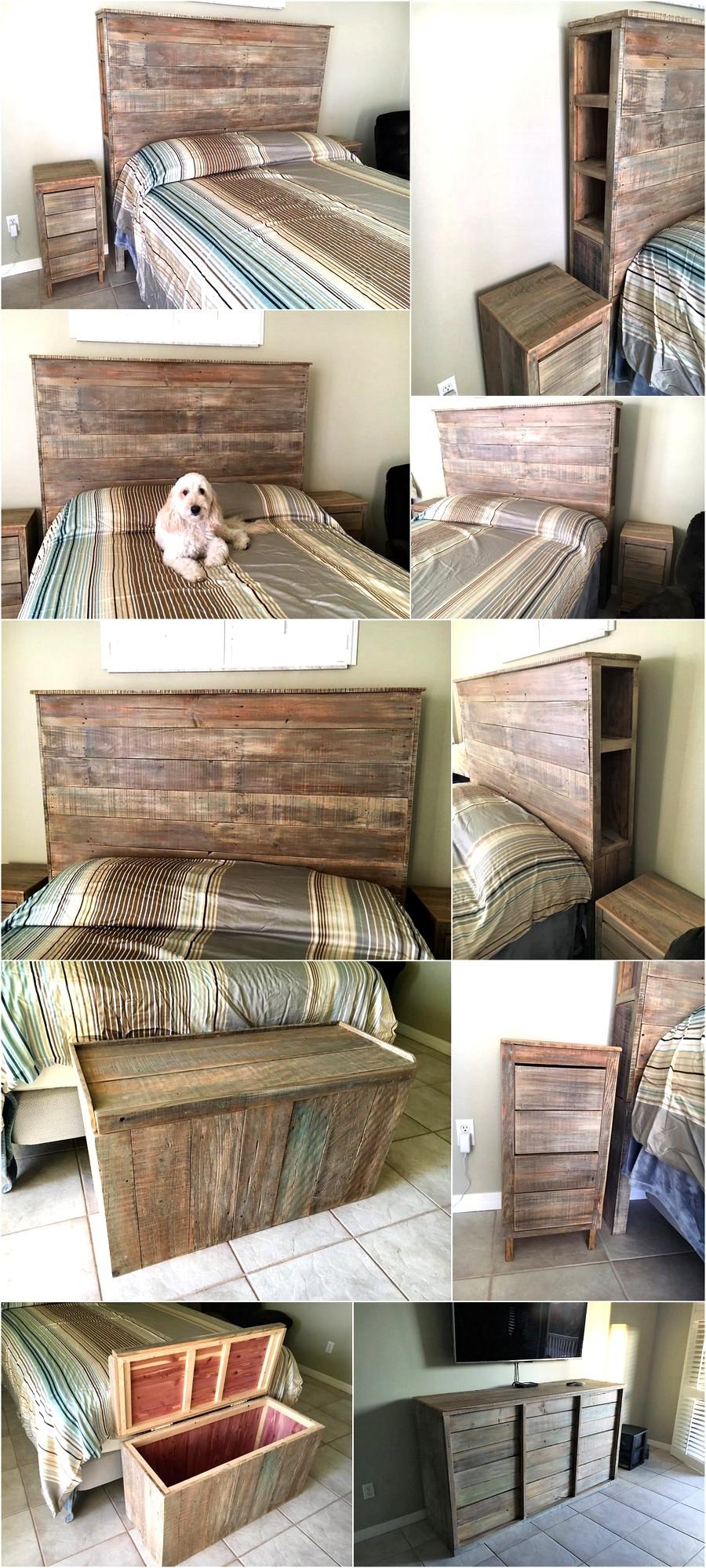 Wood Pallet Powered Bedroom