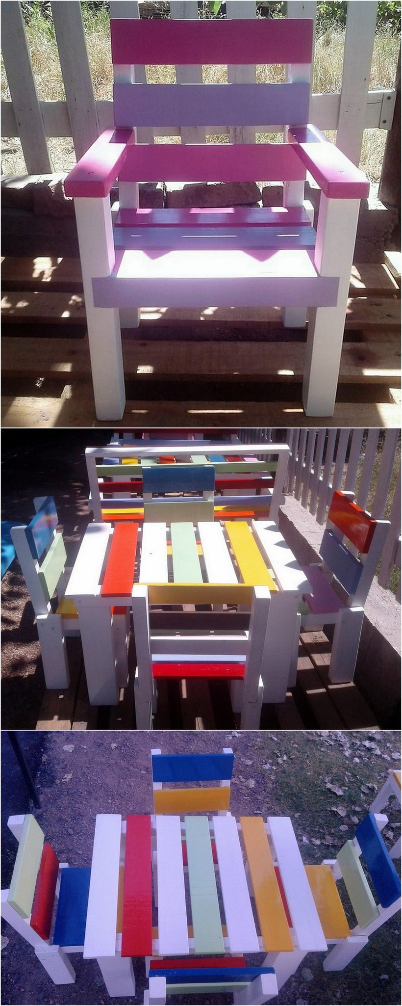kids furniture out of pallets wood