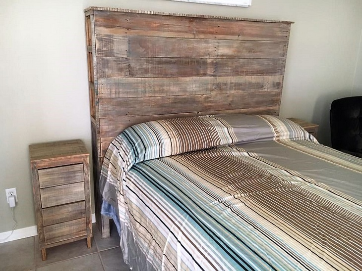 Wood Pallet Powered Bedroom