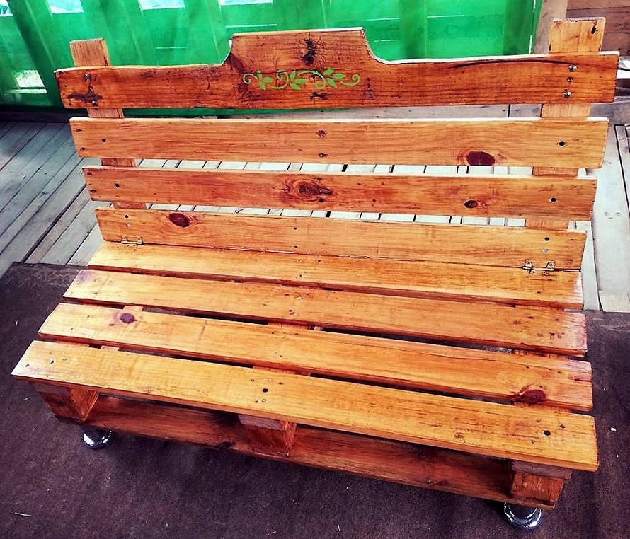 pallet outdoor bench plan