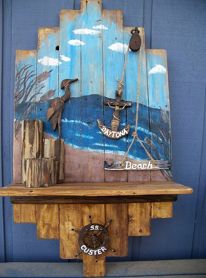 pallet wall art craft