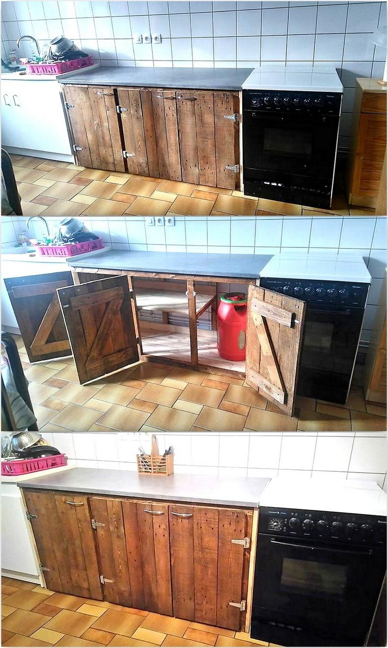 pallets kitchen storage cabinets