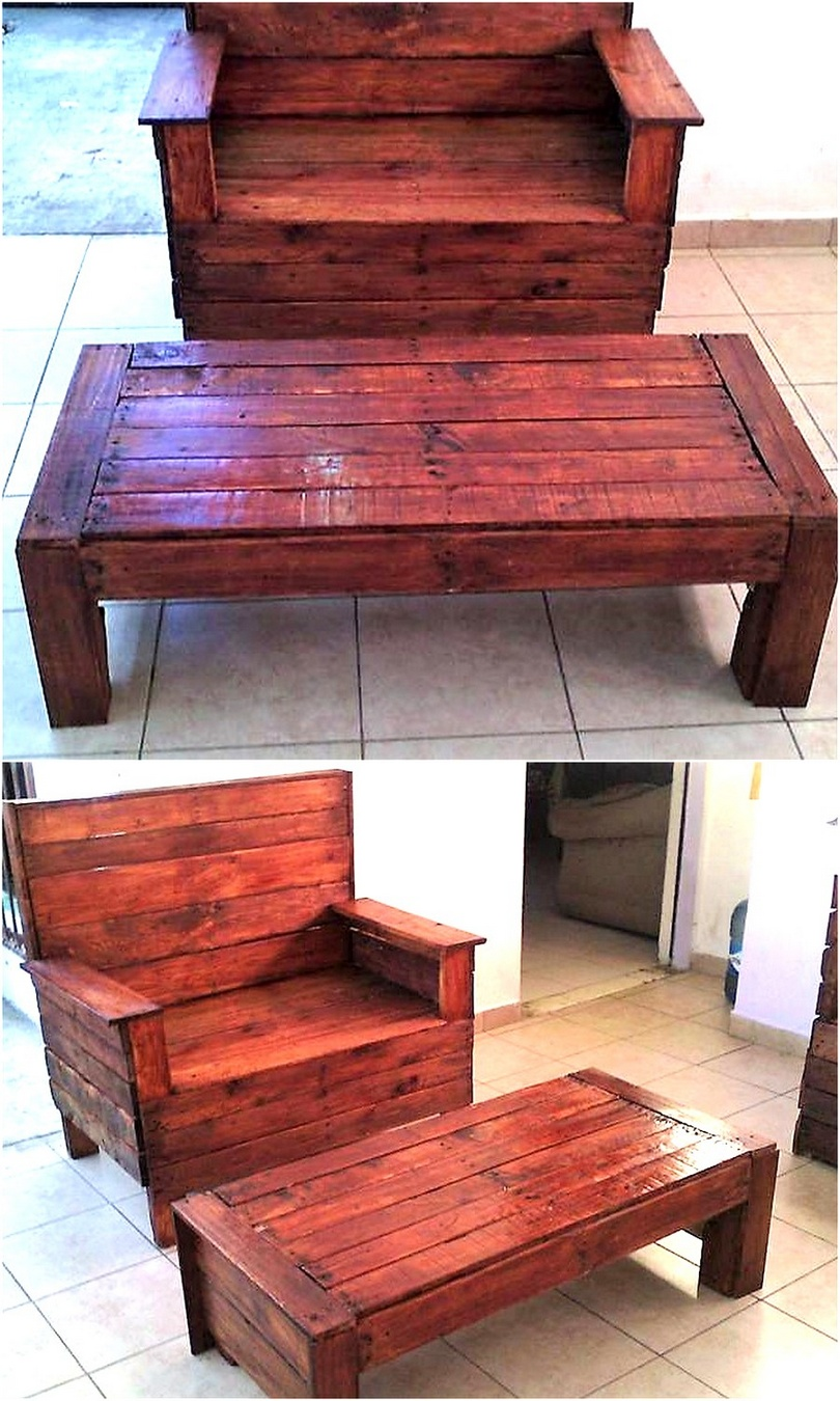 pallets made sofa idea