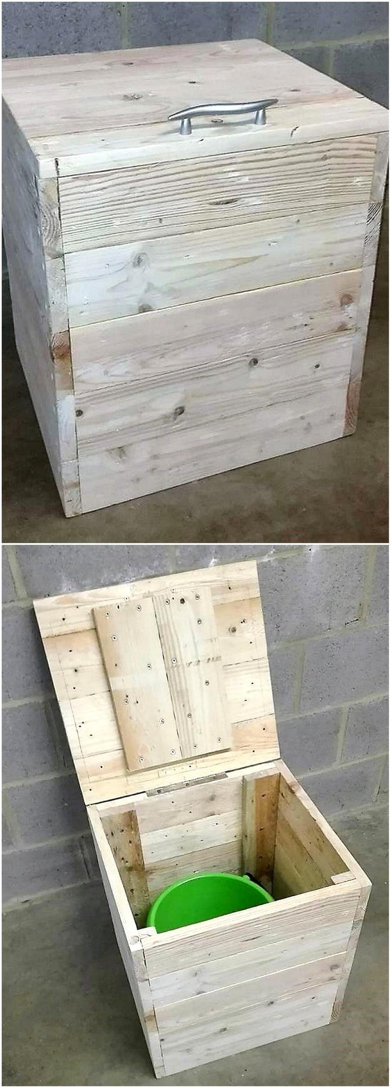 pallets waste bin box