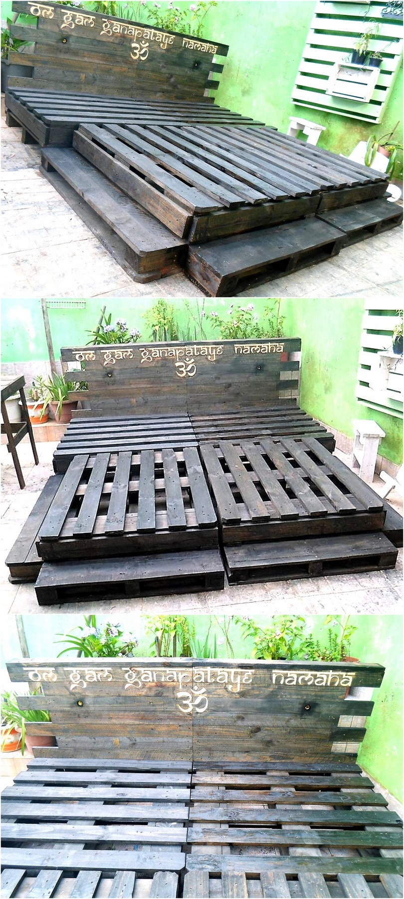 raw pallets giant bed