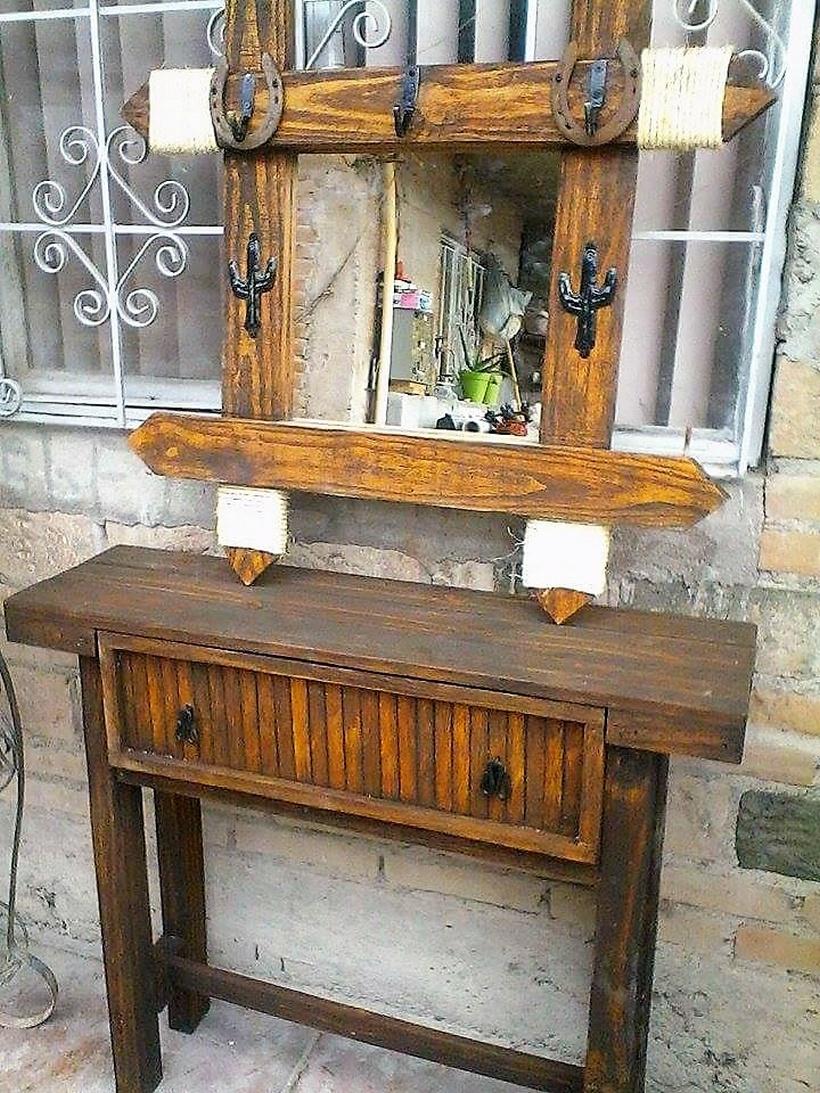reclaimed pallet vintage vanity