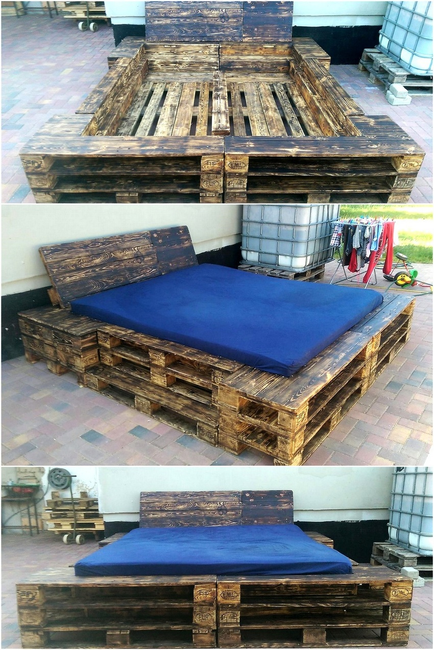 creative pallet recycling ideas by lucie 39 s palettenm bel wood pallet furniture part 2. Black Bedroom Furniture Sets. Home Design Ideas
