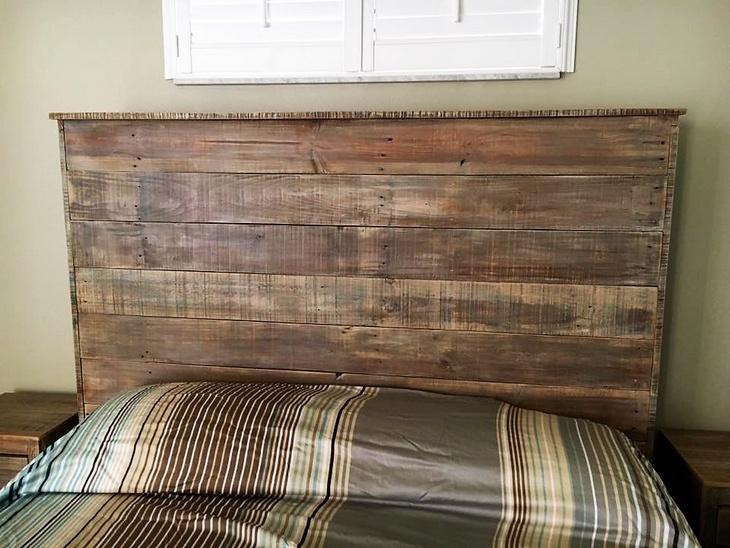 rustic look pallet headboard
