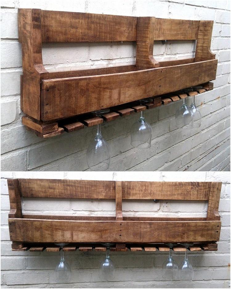 rustic pallet shelf