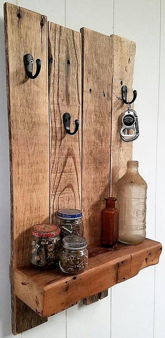 rustic pallet shelf
