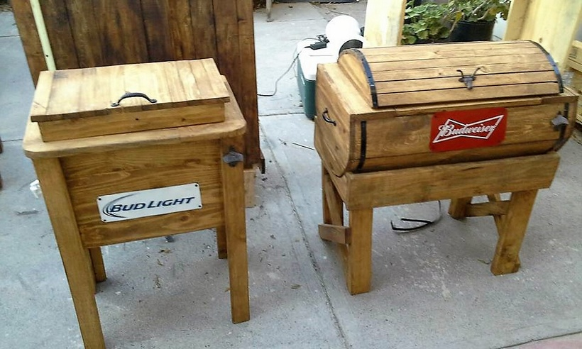 wooden pallet coolers