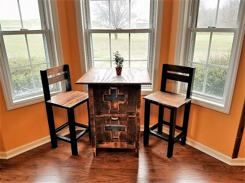 wooden pallet furniture set