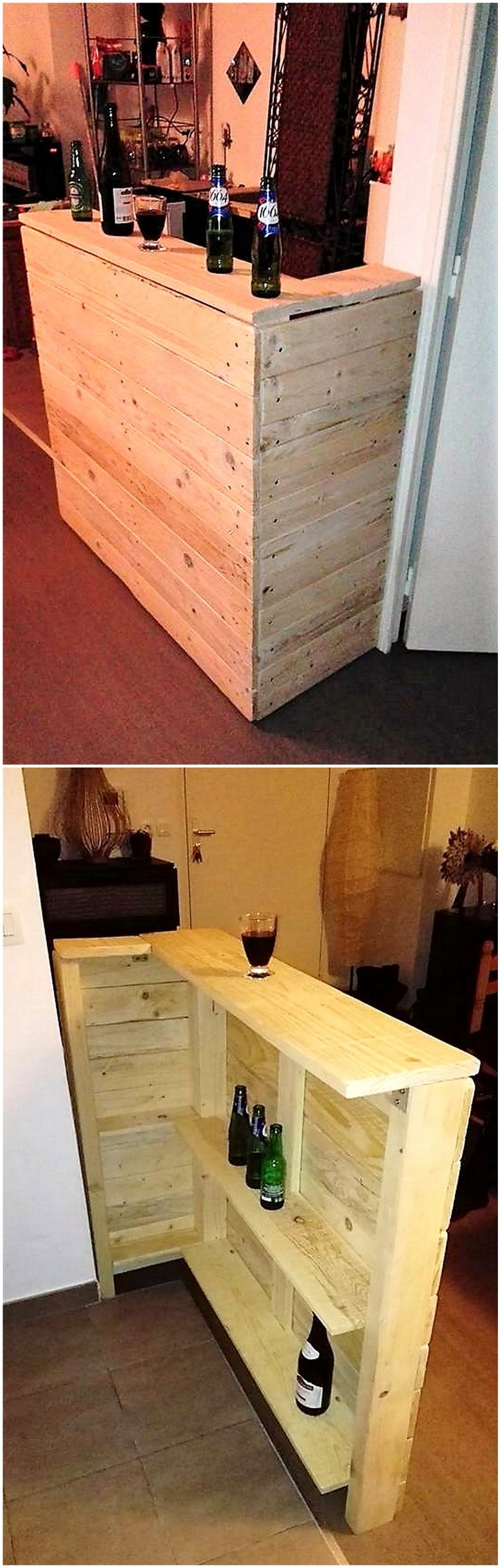 wooden pallets bar