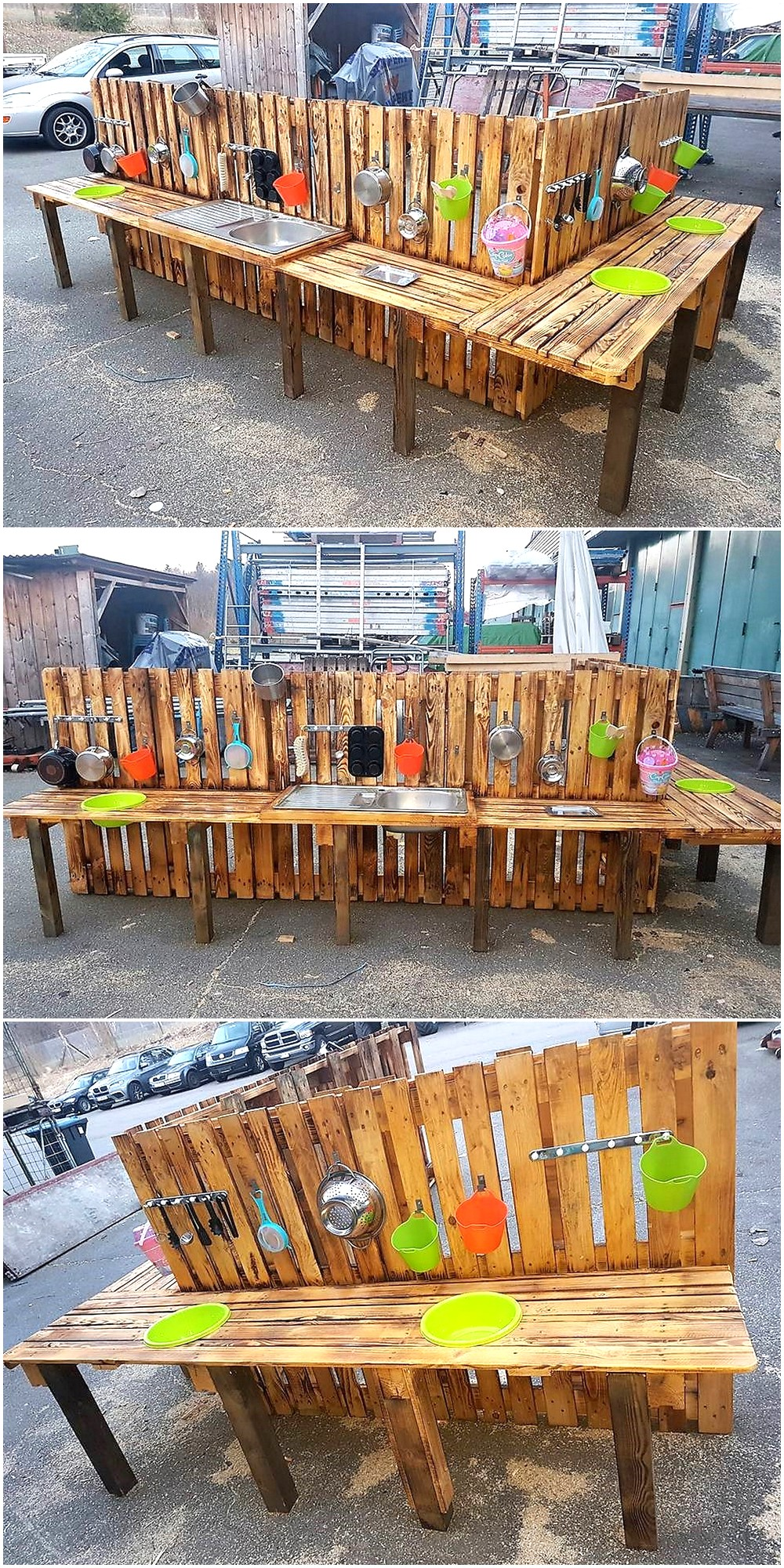 Mud Kitchen for Kids Out of Wood Pallets